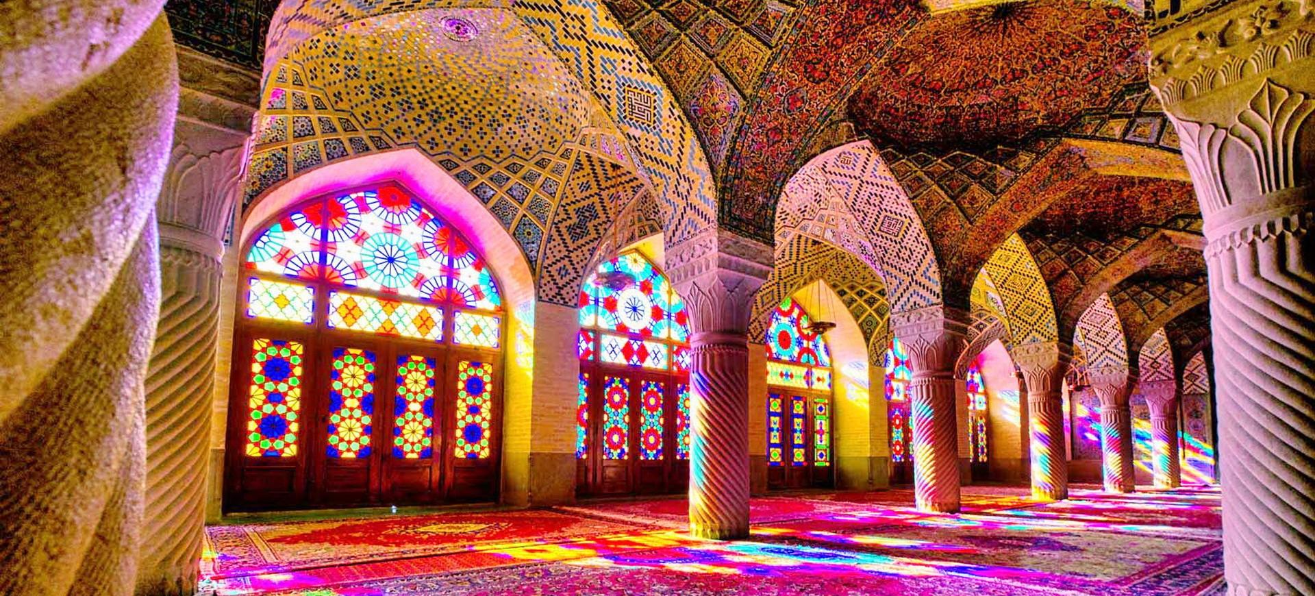 Mosquée Nasir ol  Molk à Chiraz en Iran