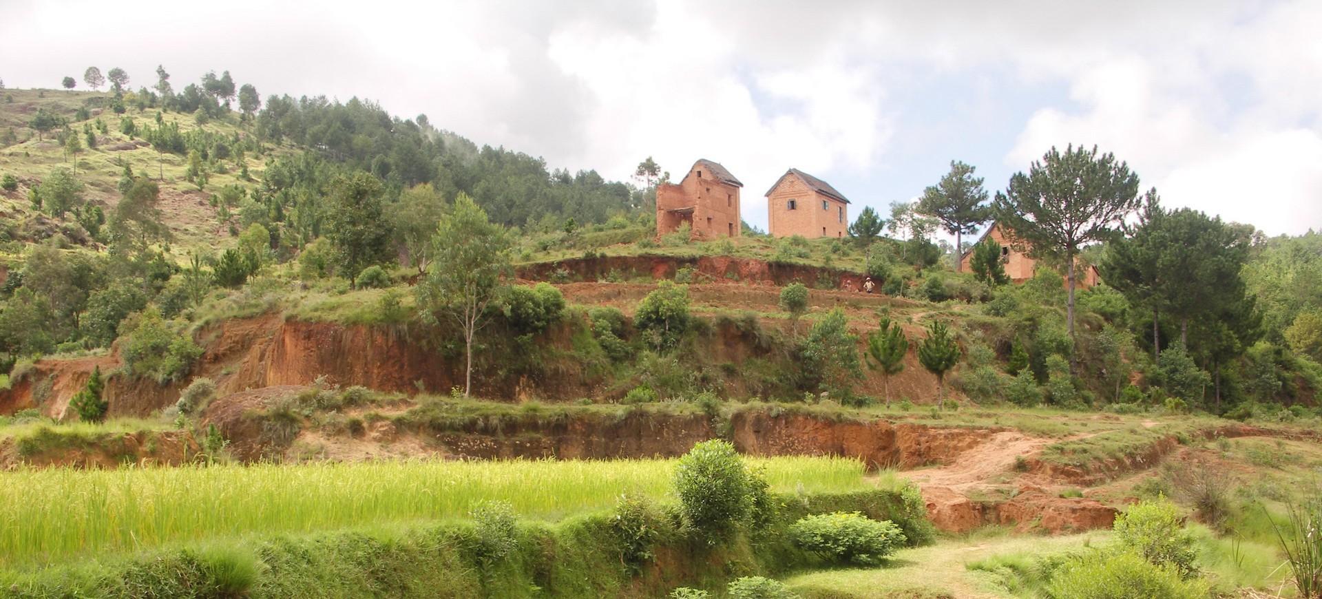 Madagascar Village des hautes terres